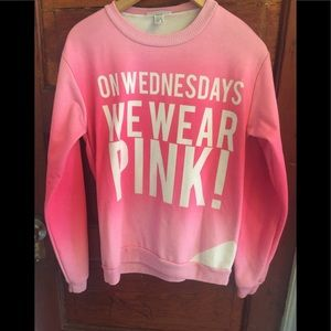 "Fresh Tops ""On Wednesday We Wear Pink"" Sweater"